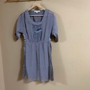 Zara lilac 100% silk dress